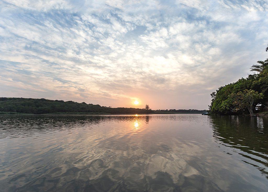 zinkwazi lagoon sunset